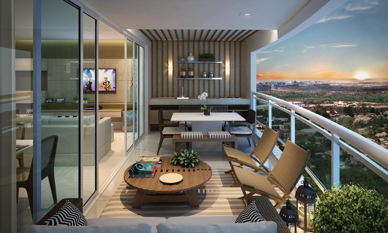 dicas de decoração para varandas de apartamentos Bons Ventos #8C6B3F 1500x900