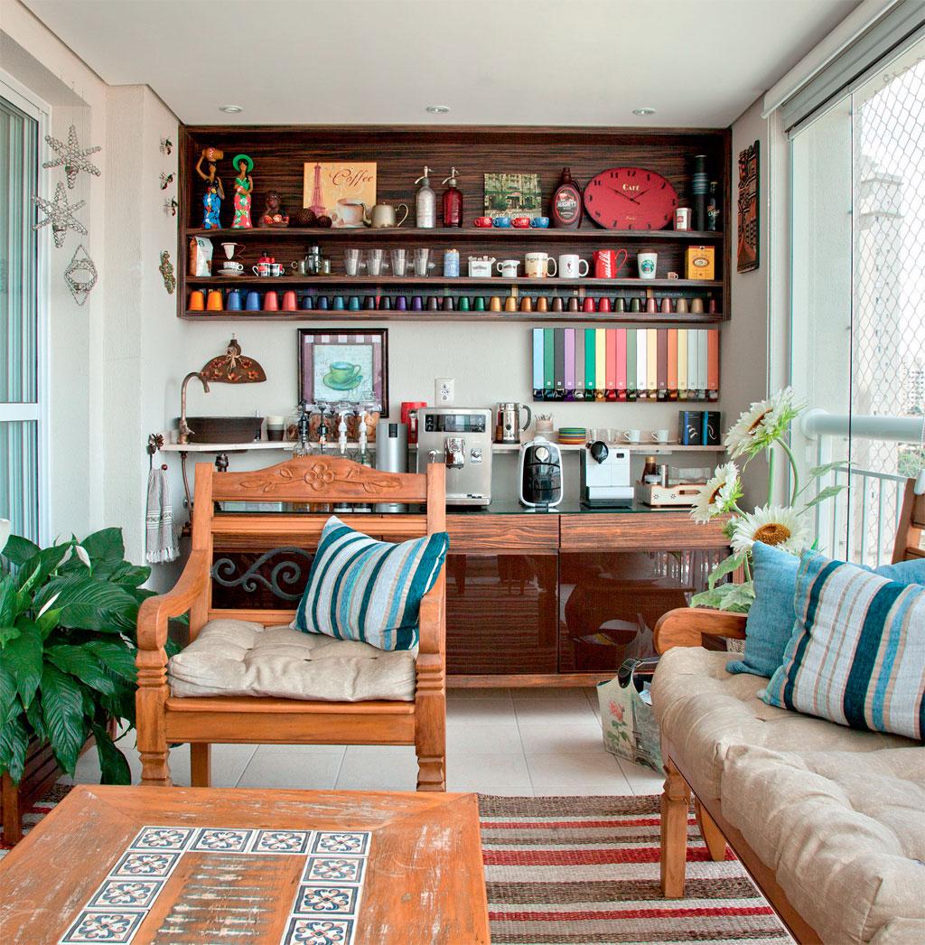 Móveis para varanda gourmet: 5 dicas para você se inspirar #9F562C 1024x1046